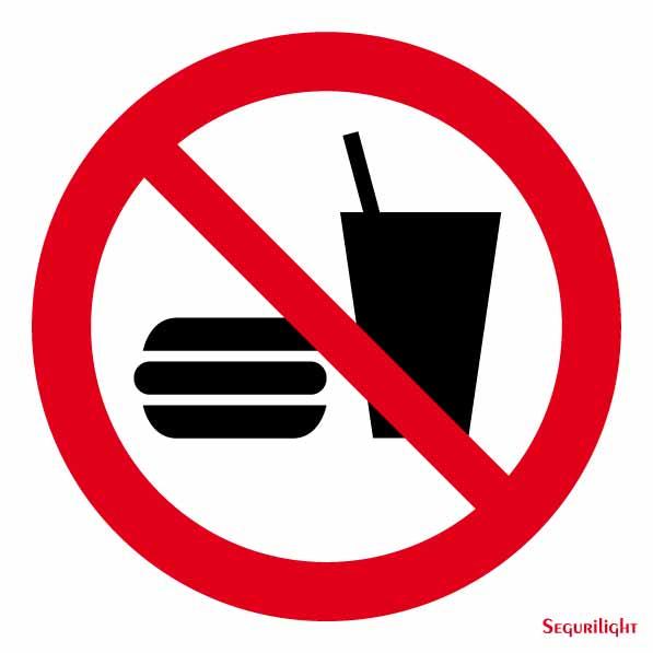 se al prohibido comer y beber segurilight se alizaci n. Black Bedroom Furniture Sets. Home Design Ideas