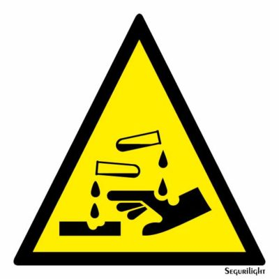 Peligro materias corrosivas 86-0013N