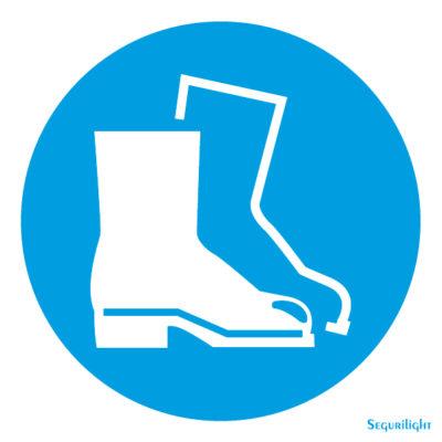Uso obligatorio de calzado de seguridad 86-5003N