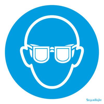 Uso obligatorio de gafas de proteccion 86-5002N