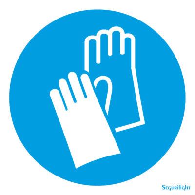 Uso obligatorio de guantes 86-5010N