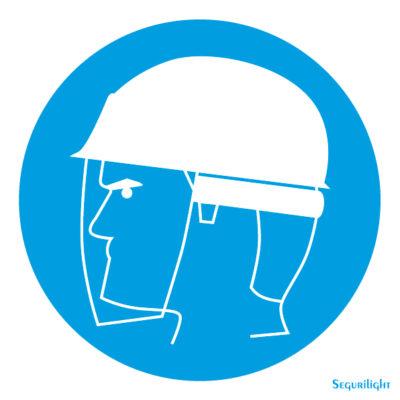 Uso obligatorio de pantalla protectora y casco 86-5004N