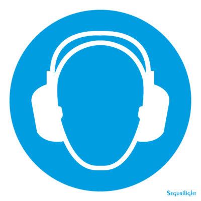 Uso obligatorio de proteccion de oidos 86-5008N