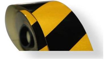 Reflectante amarilla y negra