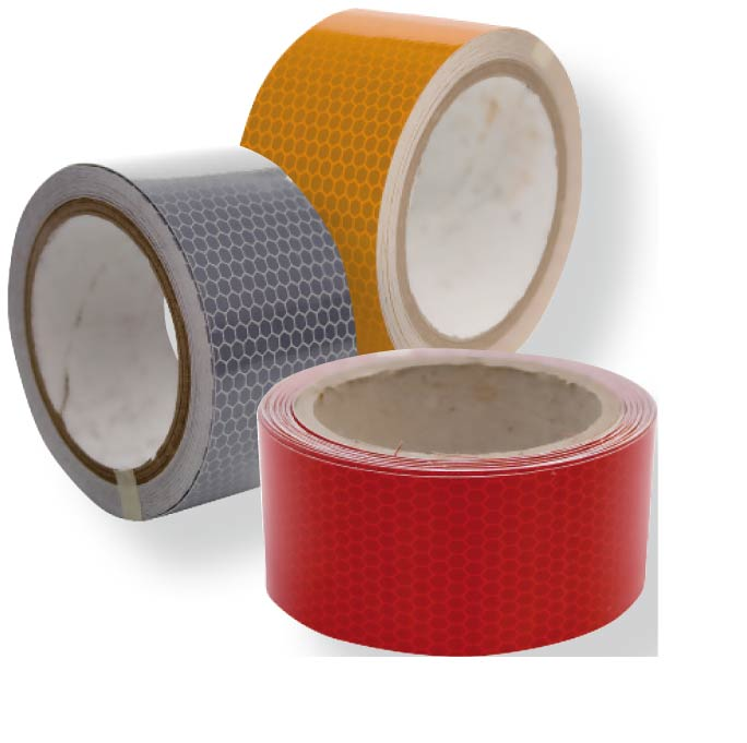 Rollos de cinta reflectante